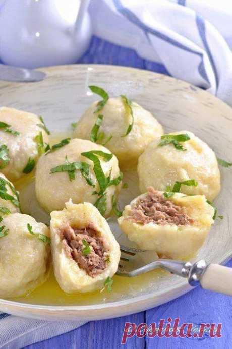 Кулинария>Картофельно-сырные ньокки, фаршированные мясом.