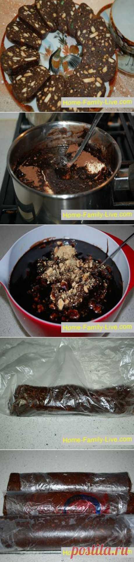 Шоколадная колбаса - Кулинарные рецепты