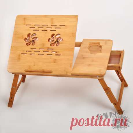 бамбуковый столик для ноутбука
