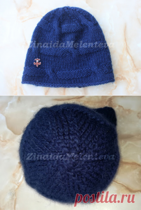 Вяжем вместе: Женская шапка из толстой пряжи