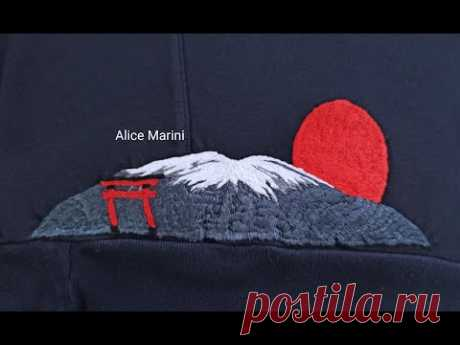 Hand Embroidery: A piece of Japan - Part 3 - Mount Fuji