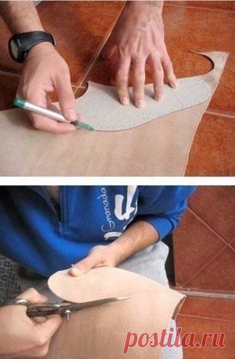 Учимся вязать обувь
