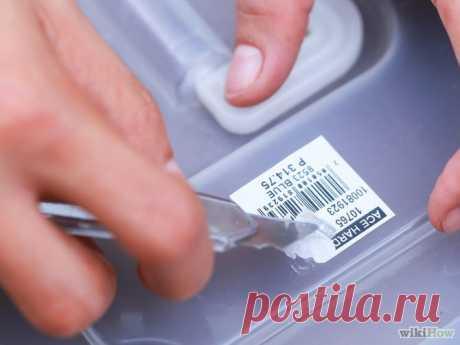 Как удалить следы от ценников и наклеек на посуде