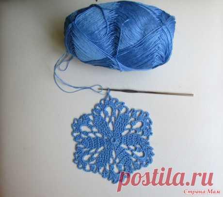. Платье мотивами цветы - Вязание - Страна Мам