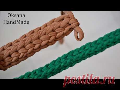 Ремешок для сумки из шнура или трикотажной пряжи. Мастер класс