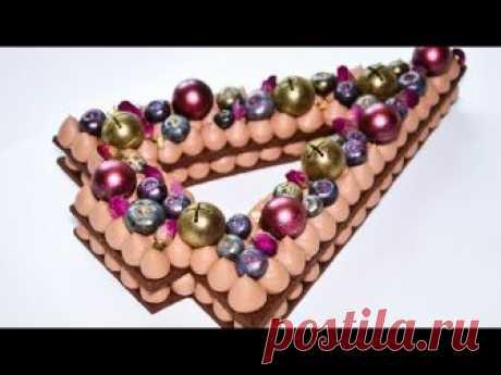 Шоколадный ТОРТ-ЦИФРА ☆ Торт- Ёлочка ☆ Шоколадный крем