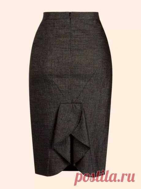 Юбка с фигурной шлицей