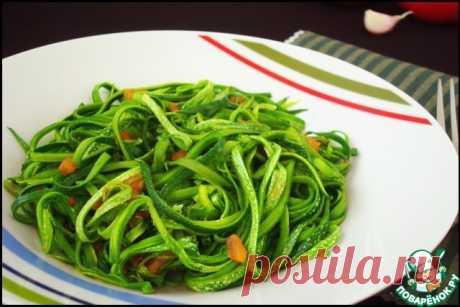 Спагетти из кабачков Кулинарный рецепт