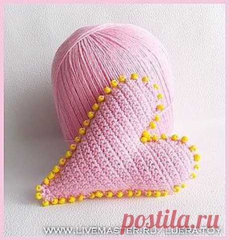 Тильда-сердечко, вязанное крючком - Ярмарка Мастеров - ручная работа, handmade