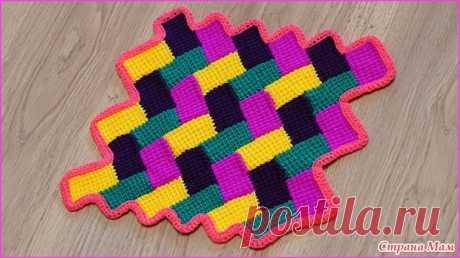 "Узор для коврика (пледа) ""Паркет"" - Вязание - Страна Мам"