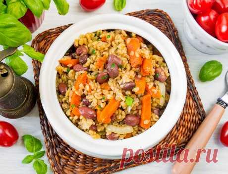 Пилав из булгура с морковью и красной фасолью на Вкусном Блоге