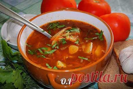 Чесночно-томатный суп