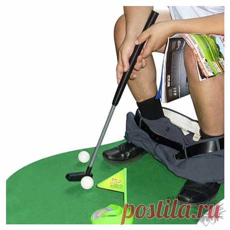 Toilet Golf. For those who do not lose minutes.)
