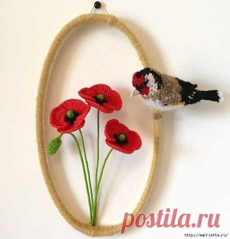 Птичий двор Jose Heroys. Вязаные птички, необыкновенной красоты.