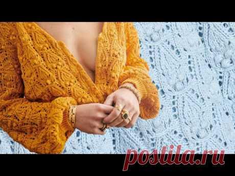 Новое!!! Шикарный Жакет Annette от Sezane/ МК Очаровательный Узор спицами с обвитыми петлями