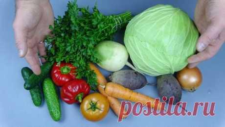 Полезные и вкусные рецепты салатов из овощей