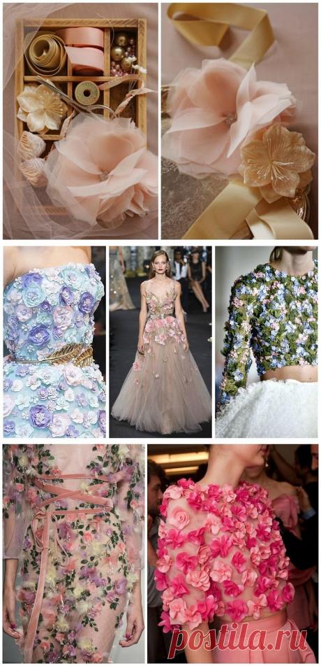 Как из сказки: украшаем платье цветами из шифона