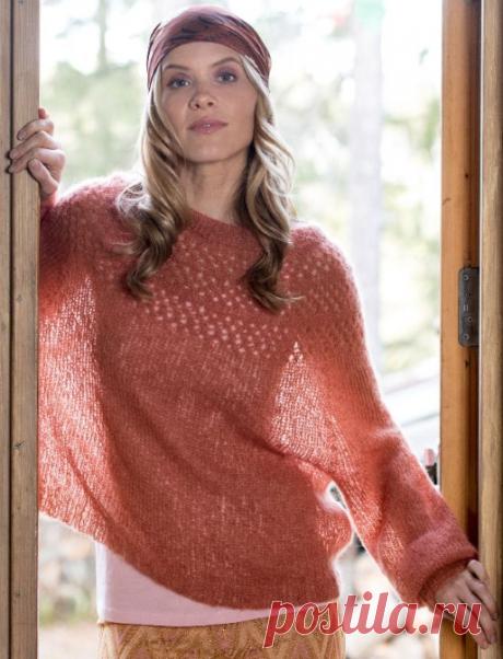 Вязаный пуловер Gently | ДОМОСЕДКА