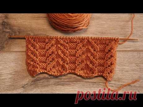 Узор Японский ажур спицами   Japanese knitting pattern