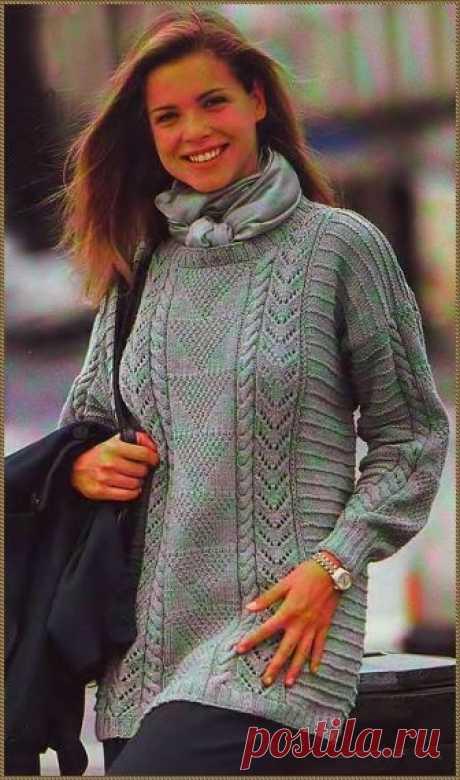 Пуловер цвета липы