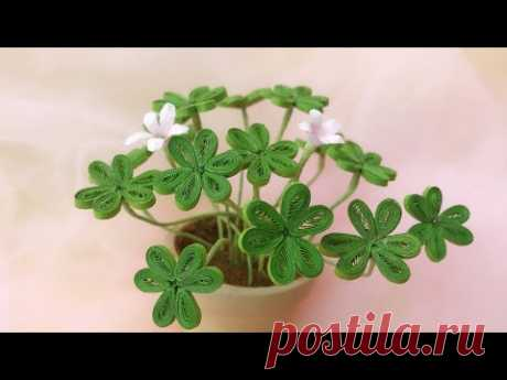 ABC TV | How To Make Clover Plant Paper | Quilling Paper - Craft Tutorial