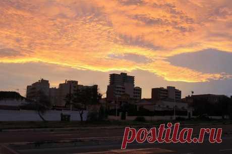 Рассветы и закаты - город Аликанте, побережье Коста Бланка