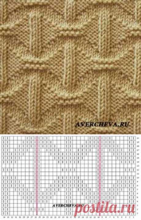 Узор спицами 982 | каталог вязаных спицами узоров // elena prekrasna