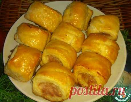 Слойки с мясной начинкой – кулинарный рецепт