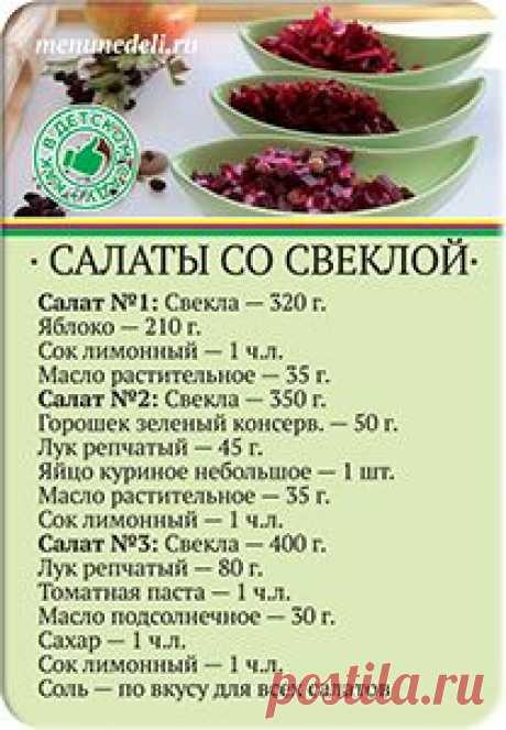 Экономное меню на неделю для зимы / Меню недели