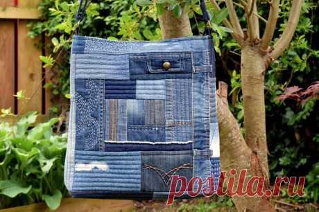 PDF Pattern: Denim Boro Bag   Etsy