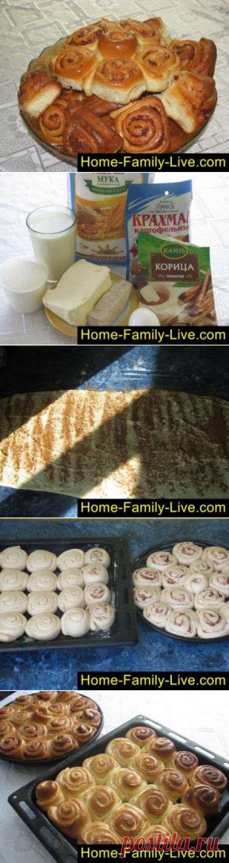 Булочки с корицей - пошаговый фоторецепт - французские булочки, улиткиКулинарные рецепты