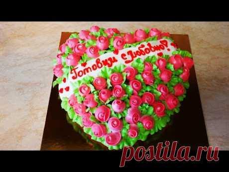 Простой рецепт торта Торт на 14 февраля  торт на день влюбленных ВЫПЕЧКА на кефире