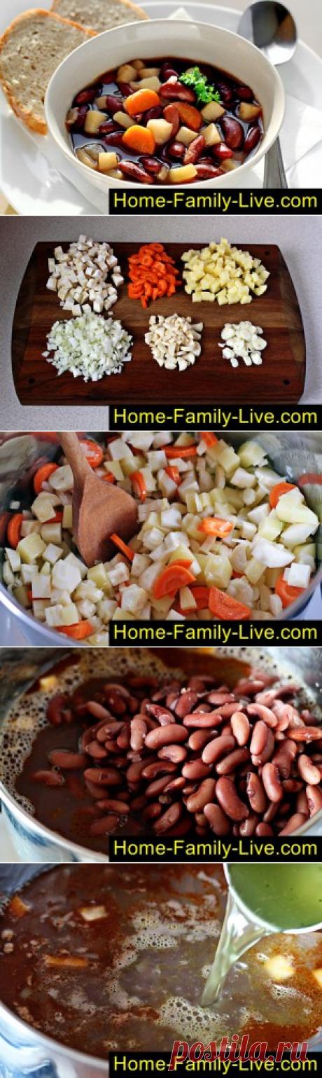 Фасолевый суп/Сайт с пошаговыми рецептами с фото для тех кто любит готовить
