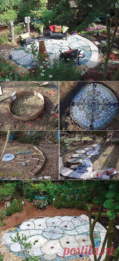 Дизайн сада своими руками: мастер-класс по созданию мозаичного патио