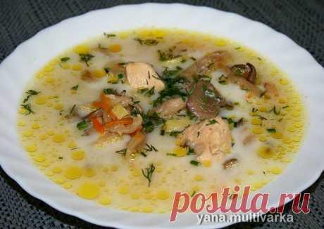 (3) Грибной суп с курицей и фасолью - пошаговый рецепт с фото. Автор рецепта Яна Мультиварка . - Cookpad