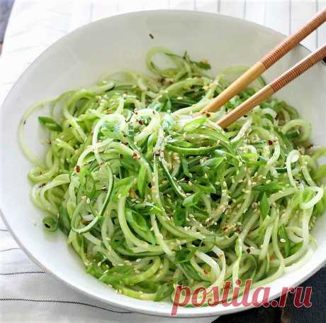 Салат из огурцов - три рецепта в азиатском стиле | Поделки, рукоделки, рецепты | Яндекс Дзен