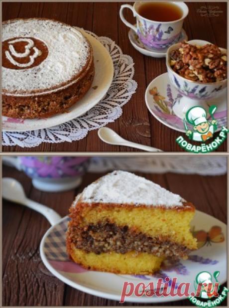 Сметанно-ореховый пирог - кулинарный рецепт