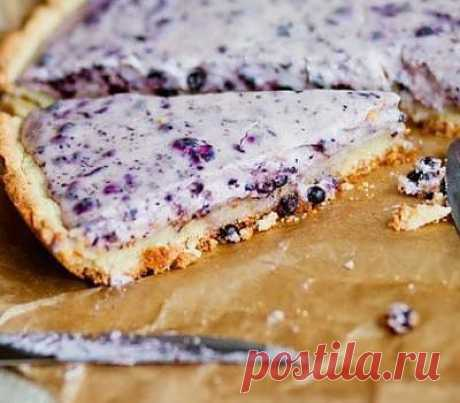 Черничный пирог с творогом рецепт с фото - рецепты с фото