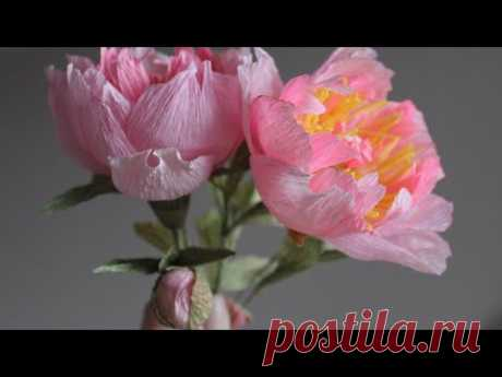 Как сделать Пионы с бутонами из гофрированной бумаги - запись пользователя Anna Makes Flowers (Анна) в сообществе Прочие виды рукоделия в категории Флористика, топиарии