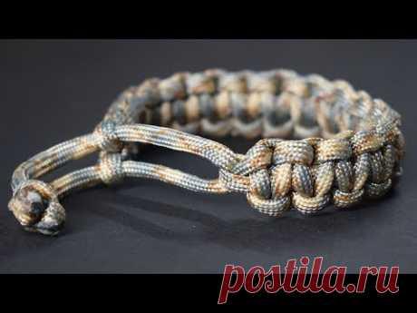 Оригинальный браслет-паракорд cobra без застежки или пряжки