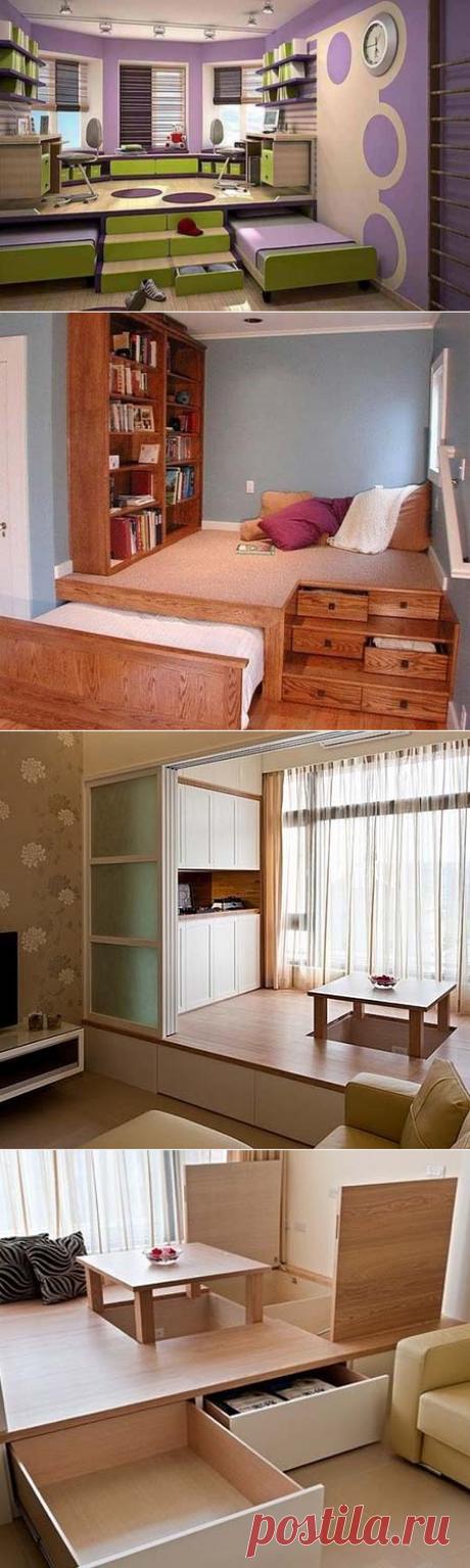 Кровать-подиум для дома | Роскошь и уют