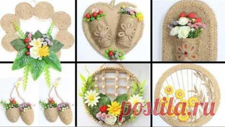 6 Jute wall hanging craft ideas   Home decorating ideas handmade