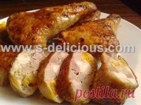 Божественно вкусные фаршированные куриные окорочка
