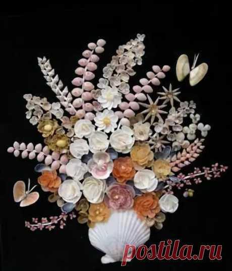 Цветы из ракушек своими руками пошагово фото 273