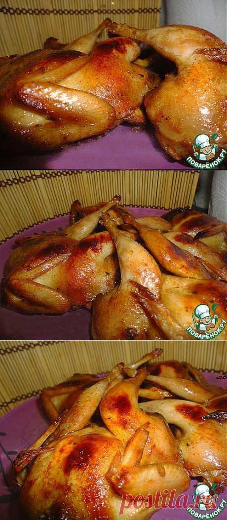 Перепела в соево-медовом маринаде с тимьяном - кулинарный рецепт