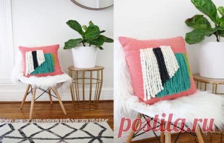 Декоративные подушки своими руками ✅️Выкройки, схемы (90+ фото)