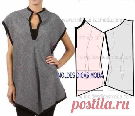 Элегантные блузы и футболки с легким кроем. Выкройки прилагаются (Шитье и крой) – Журнал Вдохновение Рукодельницы