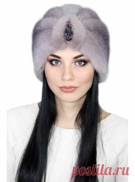 """Чалма """"Ворожея"""", норковая, зимняя, женская"""