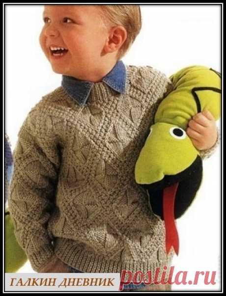 ГАЛКИН ДНЕВНИК - блог о вязании: Пуловер для мальчика спицами