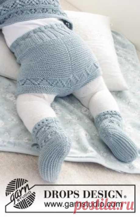 Шорты Одета Чудесные шорты для малыша, связанные на чулочных спицах 3 мм из тонкой мериносовой шерсти. Вязание шорт выполняется по кругу сверху...